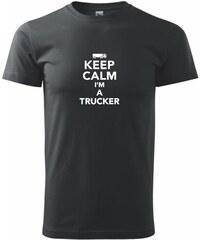 Myshirt.cz Keep calm im a trucker - Heavy new - triko pánské - XS ( Černá )