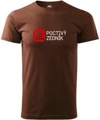 Myshirt.cz Poctivý Zedník - Heavy new - triko pánské - XS ( Čokoládová )