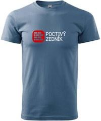 Myshirt.cz Poctivý Zedník - Heavy new - triko pánské - XS ( Denim )