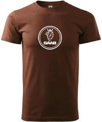 Myshirt.cz Saab logo velké - Heavy new - triko pánské - XS ( Čokoládová )