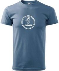Myshirt.cz Saab logo velké - Heavy new - triko pánské - XS ( Denim )