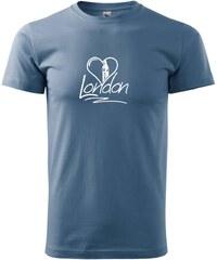 Myshirt.cz London Love - Heavy new - triko pánské - XS ( Denim )