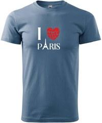 Myshirt.cz I have never been to Paris - Heavy new - triko pánské - XS ( Denim )