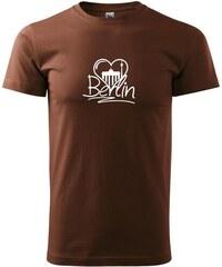 Myshirt.cz Berlin Love nápis - Heavy new - triko pánské - XS ( Čokoládová )