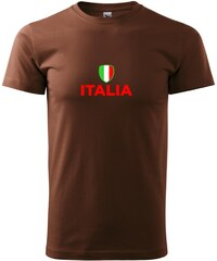 Myshirt.cz Italia vlajka - Heavy new - triko pánské - XS ( Čokoládová )