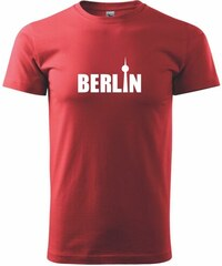 Myshirt.cz Berlin nápis věž Berliner Fernsehturm - Heavy new - triko pánské - XS ( Červená )