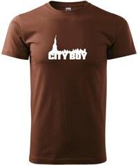 Myshirt.cz Cityboy - Heavy new - triko pánské - XS ( Čokoládová )