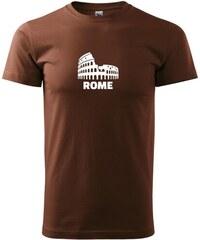 Myshirt.cz Italy Koloseum Rome - Heavy new - triko pánské - XS ( Čokoládová )