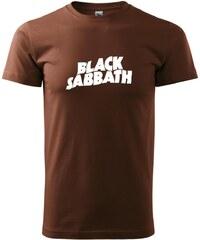 Myshirt.cz Black Sabbath nápis samotný - Heavy new - triko pánské - XS ( Čokoládová )