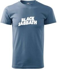 Myshirt.cz Black Sabbath nápis samotný - Heavy new - triko pánské - XS ( Denim )