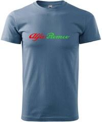 Myshirt.cz Alfa Romeo nápis barevný - Heavy new - triko pánské - XS ( Denim )