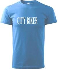 Myshirt.cz City biker - Heavy new - triko pánské - XS ( Azurově modrá )