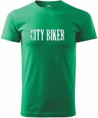 Myshirt.cz City biker - Heavy new - triko pánské - XS ( Středně zelená )