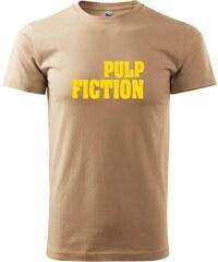 Myshirt.cz Pulp Fiction nápis plný - Heavy new - triko pánské - XS ( Písková )