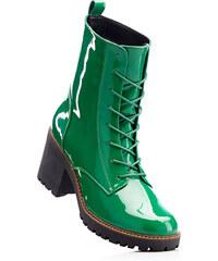 RAINBOW Bottines à lacets vert avec 7 cm talon carréchaussures & accessoires - bonprix