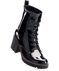 RAINBOW Bottines à lacets noir avec 7 cm talon carréchaussures & accessoires - bonprix