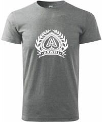 Myshirt.cz Axwell logo - Heavy new - triko pánské - XS ( Tmavě šedý melír )