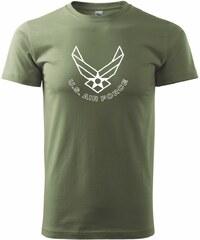 Myshirt.cz US Air force nápis - Heavy new - triko pánské - XS ( Khaki )