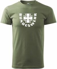 Myshirt.cz Bundeswehr kříž + nápis - Heavy new - triko pánské - XS ( Khaki )