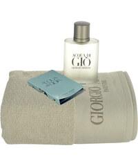 Giorgio Armani Acqua di Gio Pour Homme EDT dárková sada M - Edt 100ml + ručník + 1,5ml edp Acqua di Gioia