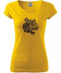 Myshirt.cz Tygr - Pure dámské triko - XS ( Žlutá )