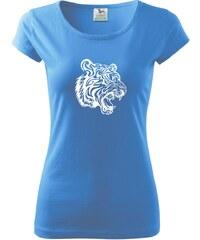 Myshirt.cz Tygr - Pure dámské triko - XS ( Azurově modrá )