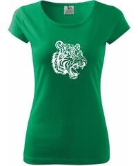 Myshirt.cz Tygr - Pure dámské triko - XS ( Středně zelená )