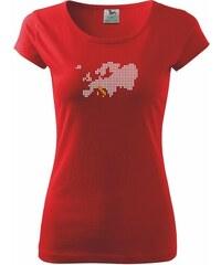 Myshirt.cz Mapa evropy - Itálie - Pure 150 - XS ( Červená )