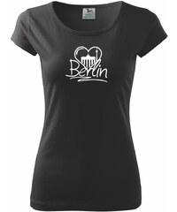 Myshirt.cz Berlin Love nápis - Pure 150 - XS ( Černá )