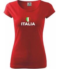 Myshirt.cz Italia vlajka - Pure dámské triko - XS ( Červená )