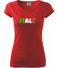 Myshirt.cz Italy Nápis - Pure 150 - XS ( Červená )