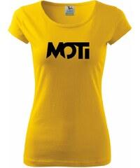 Myshirt.cz MOTi - Pure dámské triko - XS ( Žlutá )