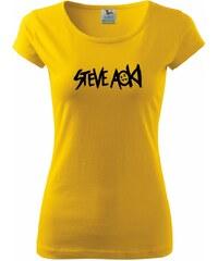 Myshirt.cz Steve Aoki nápis - Pure dámské triko - XS ( Žlutá )