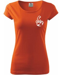 Myshirt.cz Scorpions vzadu - Pure dámské triko - XS ( Oranžová )