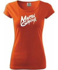Myshirt.cz Martin Garrix nápis - Pure dámské triko - XS ( Oranžová )