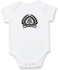 Myshirt.cz Axwell logo - Kojenecké body - Krátký r. do 1 měs ( Bílá )
