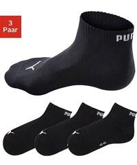 Große Größen: PUMA Sportliche Kurzsocken (3 Paar) mit Rippbündchen, 3x schwarz, Gr.35-38-43-46