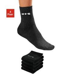 Große Größen: H.I.S Socken (4 Paar) ohne einschneidendes Bündchen, 4x schwarz, Gr.35-38-39-42