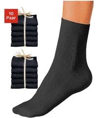 Große Größen: GO IN Basic-Socken (10 Paar) ganz unifarben, 10x schwarz, Gr.35-38-39-42