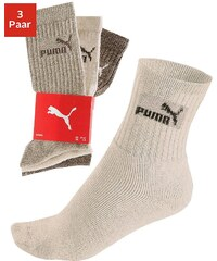 Große Größen: PUMA Klassische Sport- und Freizeitsocken (3 Paar), 3x braun, Gr.35-38-43-46