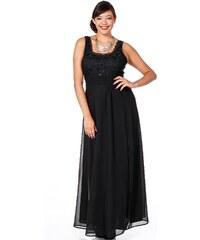 Große Größen: sheego Style Abendkleid mit floraler Spitze, schwarz, Gr.40-58