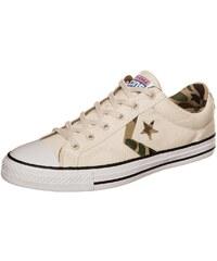 Große Größen: CONVERSE Star Player OX Sneaker, beige / weiß / braun, Gr.8 US - 41.5 EU-12 US - 46.5 EU