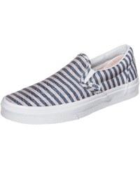 Große Größen: VANS Classic Slip-On Stripes Sneaker Damen, blau / weiß, Gr.4.5 US - 36.0 EU-9.0 US - 42.0 EU