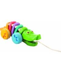 Plan Toys Tančící krokodýl - duhový