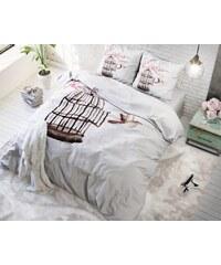 Sleeptime Parure housse de couette 240x200/220 cm + 2 taies d'oreiller 60x70 cm Live Free - blanc