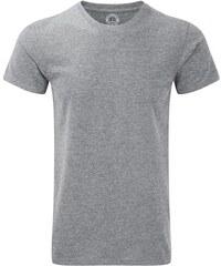 Pánské žíhané tričko - Stříbrná XS