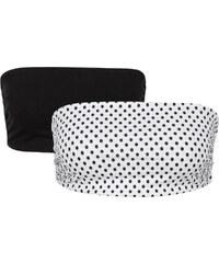 RAINBOW Bandeaux-Tops (2er-Pack) ohne Ärmel in schwarz für Damen von bonprix