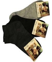 Pesail Jednobarevné kotníkové ponožky - 3páry 35-38 MIX