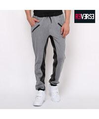 Re-Verse Pantalon de survêtement avec détails en imitation cuir