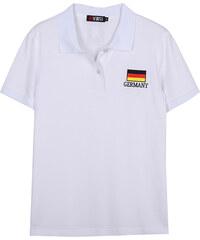 Lesara Poloshirt mit Länderflaggen-Stickerei - Deutschland - S